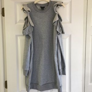 Rue 21 Cold Shoulder Ruffle Sweater Dress-SZ M